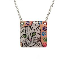 Paw Print Cat Necklace - Great Cat Lover Gift!