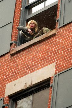 Courtney Love. I remember this. This was the window sill of her apartment I believe in New York. This was a great interview she gave.