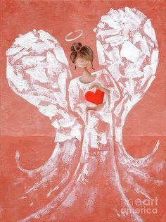 Love Heart Drawing, Angel Artwork, Orange Art, Rust Orange, Angel Drawing, Angel Warrior, I Believe In Angels, Angel Crafts, Angel Pictures