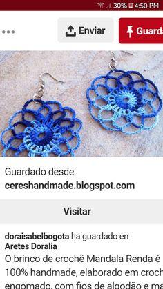 30, Crochet Earrings, Jewelry, Jewlery, Jewerly, Schmuck, Jewels, Jewelery, Fine Jewelry