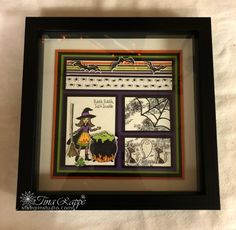 Bewitch your loved ones with projects made from the Toil & Troble Halloween Suite. Halloween School Treats, Halloween Home Decor, Halloween Projects, Halloween House, Easy Halloween, Halloween Stuff, Shadow Box Memory, Shadow Box Frames, Baby Girl Cards