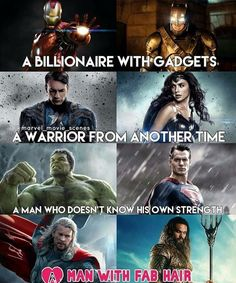 And only half of them are real heroes (you shouldn't need the hint but they're on the LEFT side)