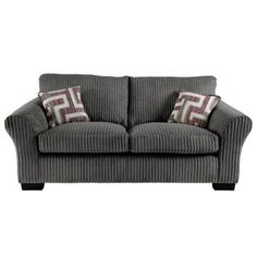 Tatton Large Sofa in Grey | View All Living Room | George at ASDA