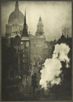 A photogravure of Ludgate Hill: c.1900-1909, Alvin Langdon Coburn
