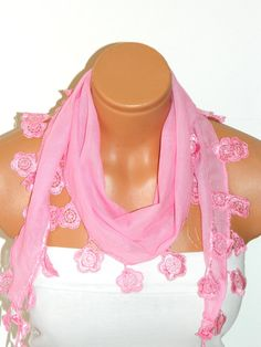 Personalized Design pinkScarf Turkish Fabric by WomanStyleStore, $14.00