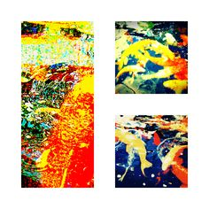 """Koi Collage - Jon Lander """"found abstract"""" photo - copyright 2012"""
