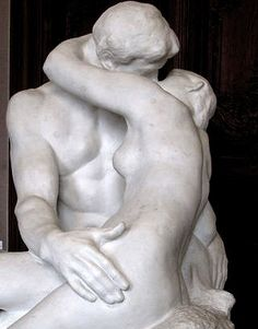 """The Kiss"" by François-Auguste-René Rodin Auguste Rodin, Greek Statues, French Sculptor, Body Figure, Modern Sculpture, Art World, Black And White Photography, Great Artists, Creative Art"