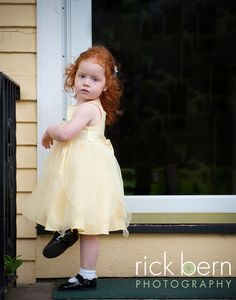 redhead in yellow, lovely