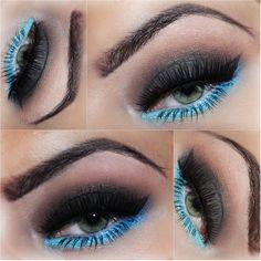 Blue makeup - makijaż dla serwisu Glam-express.com  idealne połączenie ?