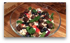 Perfect Brunch Salad with Banana Bread Croutons
