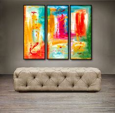"""$139.99 . 'Beautiful spring ' - 36"""" X 30"""" Original Abstract Art Painting. Everyone knows that accessories complete the home. With several pieces of paintings to choose from, your search for a perfect, one of a kind original artwork for your walls ends here.You don't need to settle for anything less than a perfect look. Enjoy free-shipping throughout USA, Free hardware and 30-day return."""