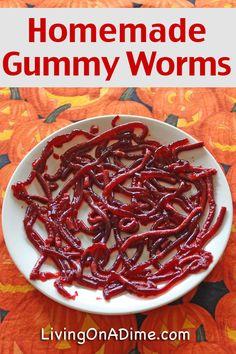 Homemade Gummy Worms Recipe - 20 Homemade Halloween Recipes