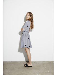 Pasadena Dress, Pois Grey