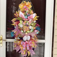 Bunny Swag Bunny Wreath Easter Bunny Swag Easter by WreathsEtc