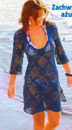 Fácil e pode se tornar uma blusa, uma saída de praia, um vestido..  Modelo versátil!                                ...