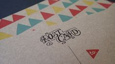 brown kraft hand lettered postcards by Kayla English