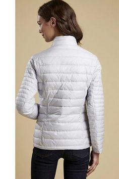 Smyths Barbour Iona quilt in Ice White is a stunning new colour which is selling really well. The Barbour Iona is an excellent, new, Ultra-lightwei Quilted Jacket, Barbour, Winter Jackets, Ice, Colour, Quilts, Stylish, Lady, Collection