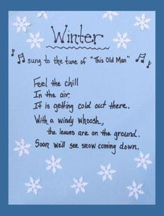 A cute winter song. Find more free songs for winter at TheMailbox.