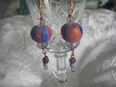 BALLOON EARRINGS   The circus collection Handmade by BlueOpera, $9.75