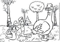 Heute gibt es für euch ein Herbstbild zum Ausmalen mit Monika Häuschen!