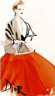 Fashion Illustrator David Downton -Dior