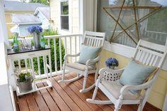 Jak urządzić piękny taras lub balkon? Inspiracje na przytulny taras. | Cinammon rols