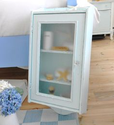 shabby chic medicine cabinet wall cabinet by backporchco on Etsy