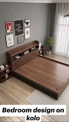Box Bed Design, Room Design Bedroom, Bedroom Furniture Design, Home Room Design, Bed Furniture, Home Decor Furniture, Home Interior Design, Bedroom Sofa, Bedroom Ideas