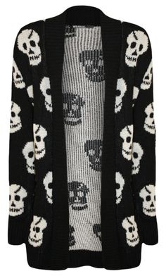 """""""Skull covered knitted sweater"""" by madi-donaldson ❤ liked on Polyvore featuring WearAll"""