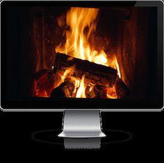 Christmas TV Idea - a fireplace video