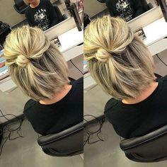 Best New Bob Hairstyles 2019 Cute-Bob-Hair-Bun Best . - Best New Bob Hairstyles 2019 Cute-Bob-Hair-Bun Best New Bob Hairstyles - Bob Hairstyles 2018, Bob Hairstyles For Fine Hair, Layered Bob Hairstyles, Bun Hairstyles, Bob Hair Updo, Long Bob Updo, Bob Hairstyles How To Style, Easy Mom Hairstyles, Hairdos