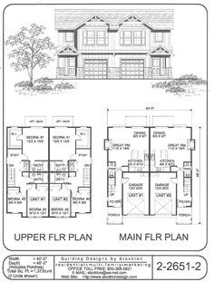 """this could easily be used as one of the twin homes.  Move one door around to the side and adjust the gable so that they aren't so """"symmetrical"""""""