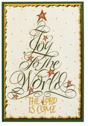 Calligraphy Tree Christmas Cards 20pk