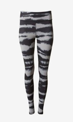 black tie dye EXP core compression legging from EXPRESS