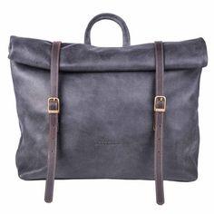 Ela & Ofir Bardichev, Meckela, Roll Up Backpack Black Black Backpack, Backpack Bags, Leather Backpack, Purse Styles, Leather Handbags, Leather Bags, My Bags, Fashion Bags, Bag Accessories
