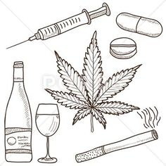Narcotics Marijuana Alcohol And Other Fotosearch Search Clip Art - Clipart Suggest Easy Drawings Sketches, Trippy Drawings, Cool Art Drawings, Tattoo Drawings, Hippie Painting, Trippy Painting, Dope Kunst, Smoke Drawing, Drugs Art