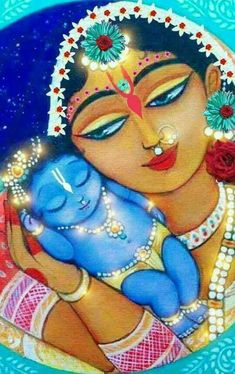 Yashoda Krishna, Radha Krishna Love, Krishna Drawing, Krishna Painting, Lord Krishna Images, Radha Krishna Pictures, Hare Krishna, Ganesha, Little Krishna