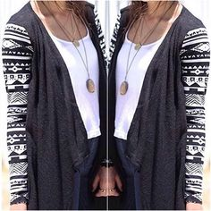 Get the look with our Pop Of Aztec Cardigan! www.psiloveyoumoreboutique.com