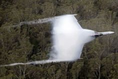 Exact moment when the sound barrier is broken at 1234,8 km.