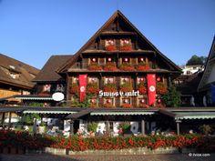 Traditional Swiss house. - Switzerland