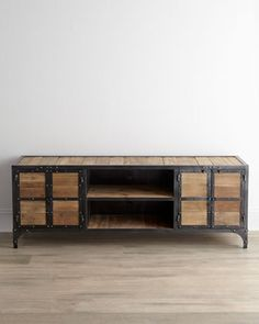 Industrial Entertainment Chest from Horchow. Saved to Home. Shop more products from Horchow on Wanelo. Basement Furniture, Living Room Furniture, Home Furniture, Furniture Ideas, Upcycled Furniture, Custom Furniture, Industrial House, Modern Industrial, Industrial Design