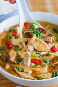 Chinese Hot and Sour Soup. (Option: If available, substitute black or mature Chinese vinegar for the balsamic.)