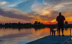 Painting Landscapes with Corel Painter 17 Corel Painter, Beautiful Paintings, Landscape Paintings, Pond, The Past, My Arts, Colours, Sky, Sunset
