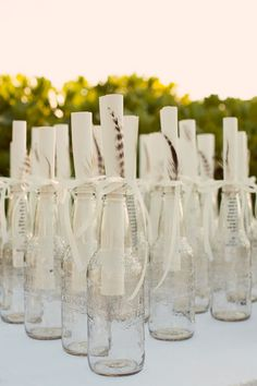 Message in a bottle programs for a beach wedding