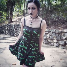 Bats and Summer This outfit is just about uploaded on my YouTube channel now! Dress is by #hellbunny and is pretty much a perfect match for my tattoo. Bought it from @beserk forever ago. Check out...
