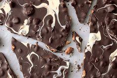 Ghostly Chocolate-Nut Bark