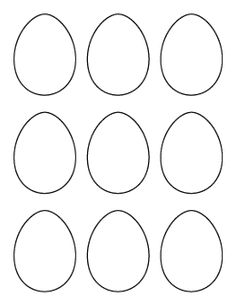 Easter bunny paw print pattern patterns templates for for Small easter egg template
