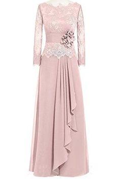 Shop Orient Bride Women Lace Chiffon A-Line Formal Evening Dresses Long Sleeves Size UK Watermelon. Dress Brokat, Kebaya Dress, Muslim Fashion, Abaya Fashion, Fashion Dresses, Islamic Fashion, Cute Dresses, Prom Dresses, Beautiful Dresses