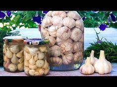 Солим и маринуем чеснок на зиму - 2 вкусных рецепта! - YouTube Winter, Garlic, Baking, Vegetables, Youtube, Food, Decorating, Canning, Kuchen