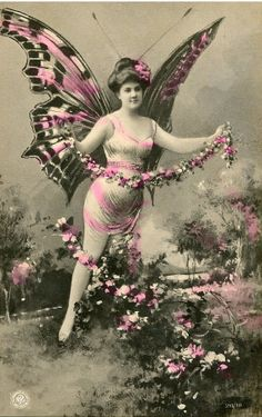 Vintage tinted postcard...
